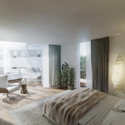 Über 30 m2 großes Masterbedroom mit eigener Terrasse.