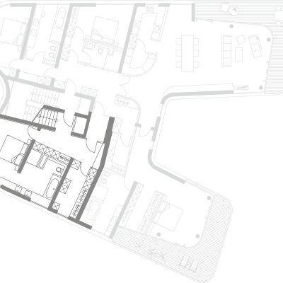 Grundriss, Gästebereich